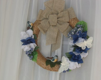 Spring bird wreath