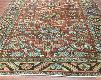 Antique All over Persian Heriz Rug-4201
