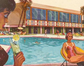 Stardust Hotel Las Vegas, Vintage 1960's Postcards, Set of 2