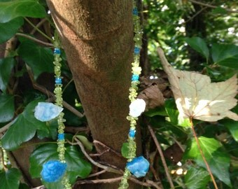 Chalcedony, Apatite and Peridot necklace