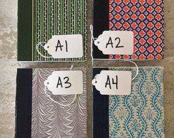 Hand-Sewn Journals with Patterned Vintage Covers - One-Of-A-Kind