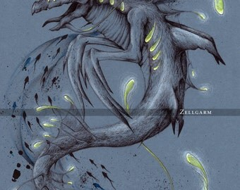 Original drawing - Leviathan - Mythology