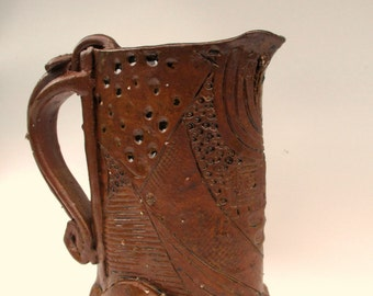 Celtic Amber Jug by The Buckley Pottery