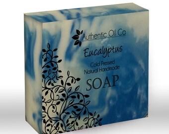 Eucalyptus Traditional cold press handmade soap 80g