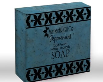Peppermint Traditional cold press handmade soap 80g