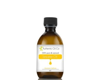 Sesame oil 100% Pure Various sizes  10ml 50ml 100ml 250ml 500ml 1 litre