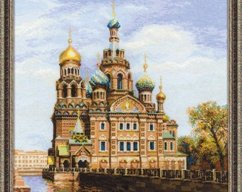 Cross Stitch Kit by RIOLIS - St. Petersburg. Church of the Savior on Blood