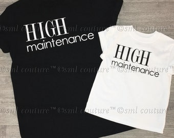 HIGH maintenance Kids Graphic Fashion Tee Shirt