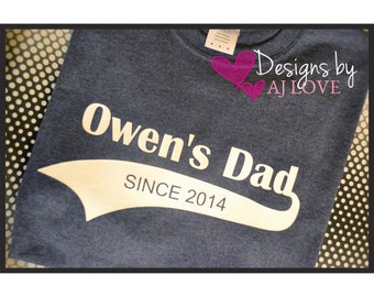 Father Since Year Tee//Daddy to be// Father's Day//T-Shirt