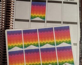 NEW Rainbow Chevron Box Flags, Set of 16!