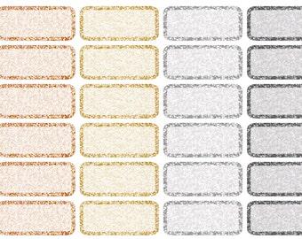 Metallic label stickers (planner stickers)