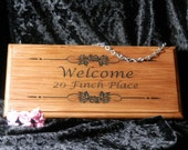 Address Plaque / Sign Personalised / Front Door Sign / Welcome Sign