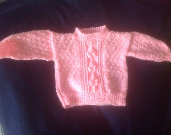 Hand knit sweater size 1