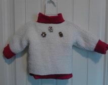 baby christmas sweater with the three christmas bears