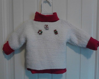 baby christmas sweater with the three christmas bears
