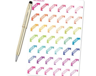 Planner Stickers - PayDay Corners Brights