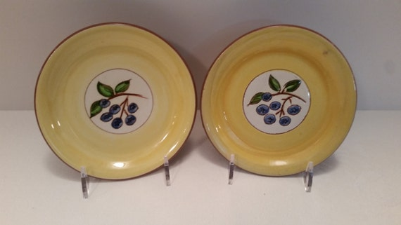 Stangl - Two Blueberry Coasters #3770