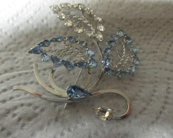 Star-Art sterling triple leaf brooch