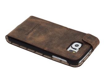 Samsung Galaxy S6 Flip Case, Samsung Galaxy S6 Leather Case, Samsung Galaxy S6 Leather Case Flip Stand Case, G6 Antic Coffee