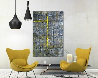 Original Art, Yellow & Black Art, Original Painting, Acrylics, Wall Art, Contemporary Painting, Canvas, Home Decor, Hand painted Art