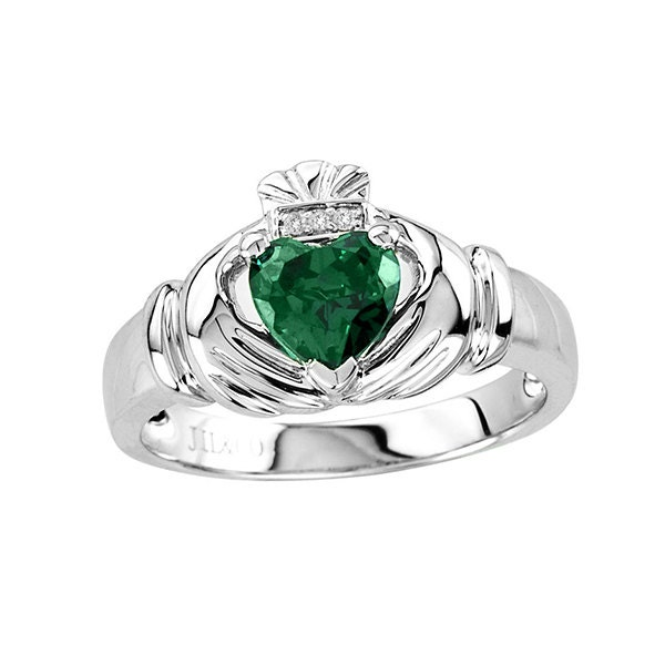 sterling silver claddagh ring s emerald claddagh ring