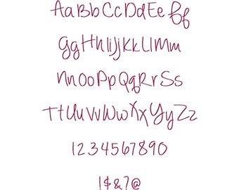 Ever After Machine Embroidery Font Monogram Alphabet - 3 Sizes