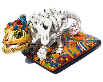 Day of the Dead Chameleon Collectible Talavera