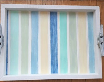 Beach Stripe Tray