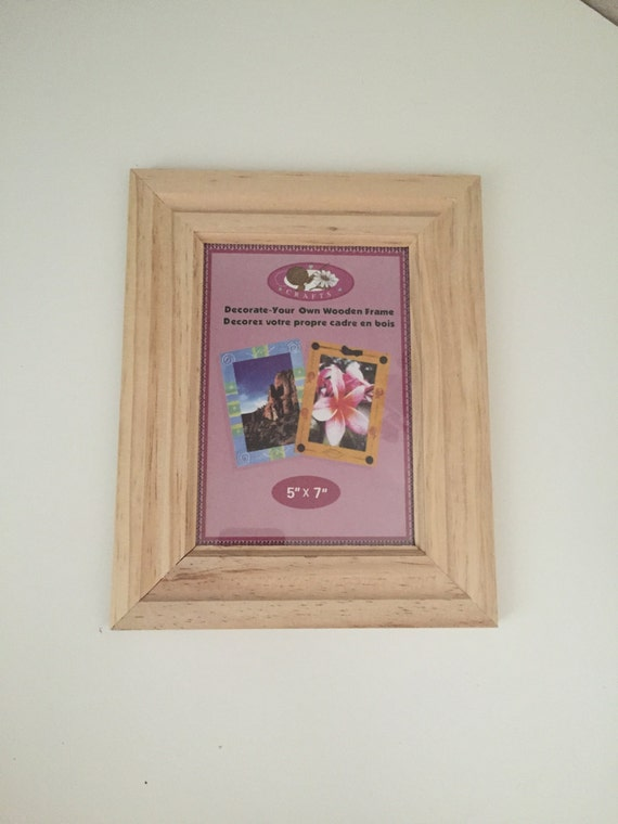 unfinished wood 5x7 picture frame decorate your own wooden. Black Bedroom Furniture Sets. Home Design Ideas