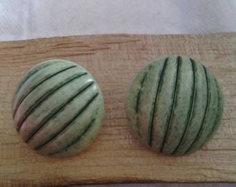 Green Melon Vintage Earrings