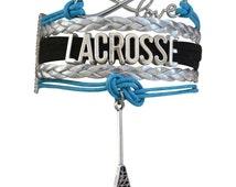 Lacrosse Jewelry - Lacrosse Bracelet - Girls Lacrosse Player Bracelet- Perfect Lacrosse Gift!!