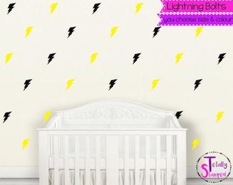 Lightning bolt wall decals, Super hero, Wall Stickers, Wall Art, Nursery, Boys or Girls, Kids room