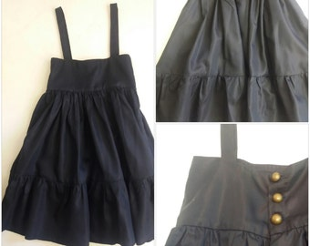Navy blue silk dress