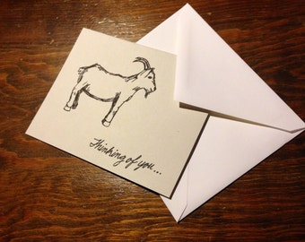 Thinking of You Goat Cards (10-pack )