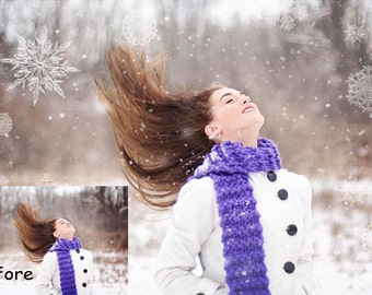 DIGITAL Snowflake Overlay for photographers, photography, winter photos