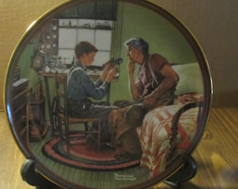 Norman Rockwell Collector Plate-The Inventor and the Judge