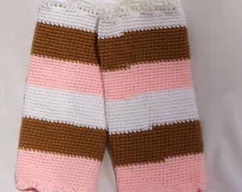 Neapolitan Legwarmers, Crochet Women's Leggings, Teen Leg Warmers, One Size fits Most, Adult Legwarmers, Striped Leg warmers