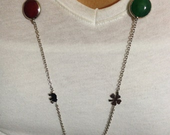 Necklace, Long chain necklace, long gemstone necklace, gemstone jewelry, multi  necklace, Christmas gift, Gift for  Her