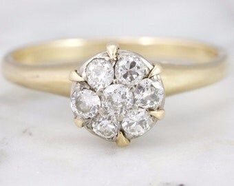 SOLD Olivia Cluster Diamond Engagement Ring