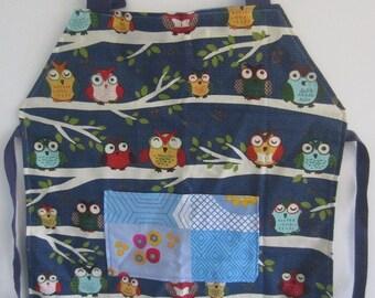 Child apron - night owls