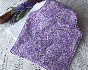Purple Paisley Burping Cloth