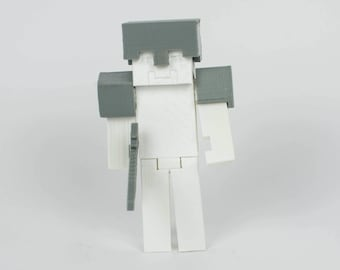 Minecraft Figurine - Paint your own - DIY paint 3d Printed Toy / Collectible