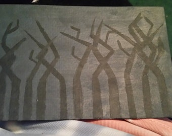 Dark trees painting