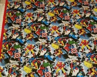 Superheroes Flannel Toddler Blanket