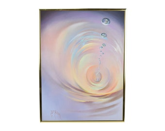 Swirling Whirlpool of Water w Bubbles Abstract Oil Painting by Lumgair San Diego