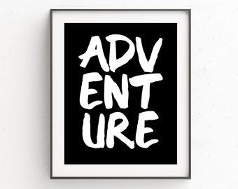 Travel Quotes, Adventure, Boho Girlfriend Gift, Wall Art, Boho Decor, Travel Printable Art, Instant Download, Wanderlust, Quote Print