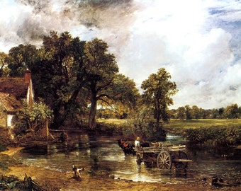 The Haywain Farm Horse Carriage River 1821 by John Constable Vintage Poster Repro Free S/H in USA