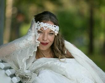 Bride Headpiece/wreath, MADE TO ORDER