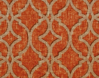 "P Kaufmann NURI Cerise Velvet Print Fabric 54"" Soil and Stain Repellent by the yard Multipurpose"