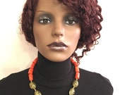 100 natural coral beads African Nigerian wedding party occasional beads new arrival necklace set